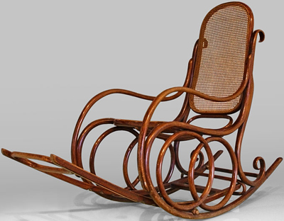 Michael Thonet bentwood rocking chair.