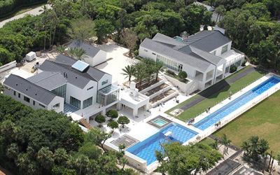 Tiger Woods' US$55.5 mio. house on Jupiter Island, Florida, U.S.A.