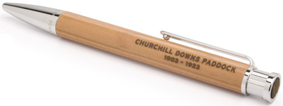 Tokens & Icons Churchill Downs Paddock Wood Color Top Pen: US$150.