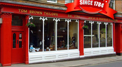 Tom Brown Tailors, Number One, Eton High Street, Eton.