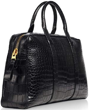 Tom Ford Buckley Alligator Flat Trapeze Briefcase: US$34,700.