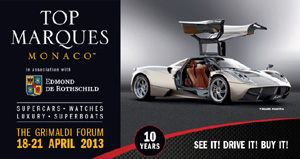Top Marques Monaco, Grimaldi Forum, 10 Avenue Princesse Grace, MC-98000 Monte-Carlo, Monaco.