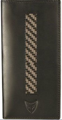 Michael Toschi GT Series Black Carbon Fiber Wallet.