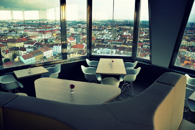 The restaurant at Tower Park Praha.