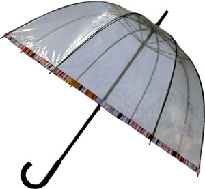 Bell-shaped transparent umbrella: €59.
