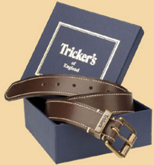 Tricker's English handmade and hand finished 35mm leather belt.