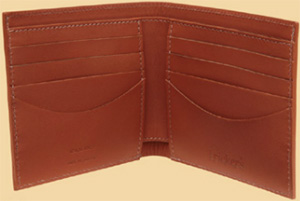Tricker's English handmade and hand finished leather wallet.