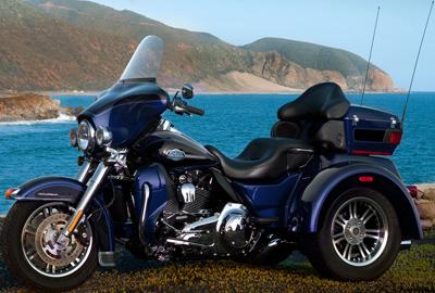Harley-Davidson Trike Tri Glide Ultra Classic.