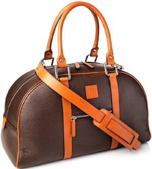 Geo F. Trumper Chocolate and Tan Calf Leather Holdall: £550.