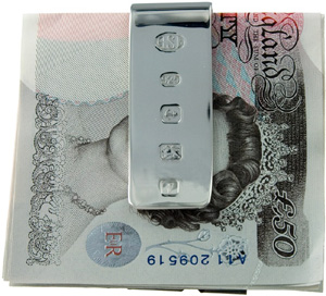 Geo F. Trumper Sterling silver hallmarked money clip, 40g in weight: £165.