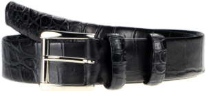 Tubular Crocodile Skin Belt: US$1,325.