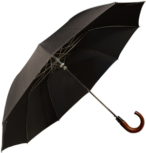 Turnbull & Asser Automatic Telescopic Umbrella with Brown Wooden Crook: £70.