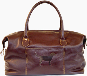 Tyler & Tyler luxury Italian hide leather weekender bag - Labrador.