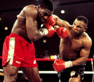 Mike Tyson vs. Frank Bruno.
