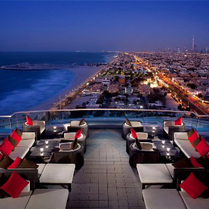 Uptown Bar - located on the 24th floor of Jumeirah Beach Hotel, Dubai.