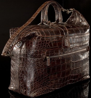 Domenico Vacca Genuine Alligator Travel Bag: US$48,000.