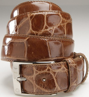 Domenico Vacca Genuine Alligator Men's Belt: US$1,450.