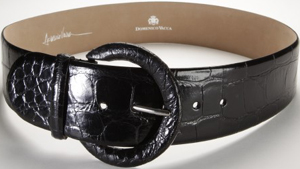 Domenico Vacca Shiny Genuine Alligator Women's Belt: US$1,950.