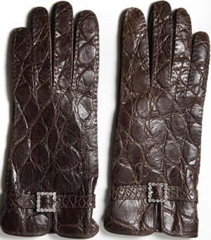 Domenico Vacca Genuine Alligator & Leather Women's Gloves: US$1,850.