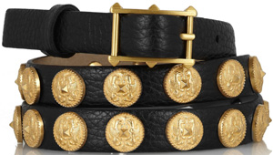 Valentino Etno embellished textured-leather women's belt: €350.