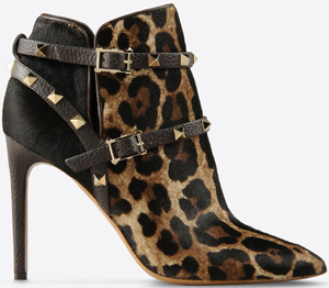 Valentino Garavani Ankle boot in pony skin: US$2,295.