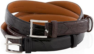 Valextra Alligator Belt With Diamond.