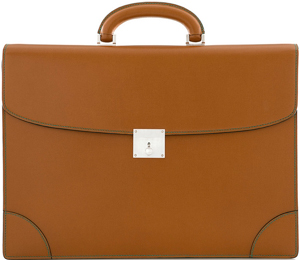 Valextra Classic Dubble Gusset Small Briefcase: US$3,400.
