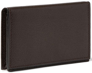 Valextra Cross-Grain Leather Business Card Holder: US$320.