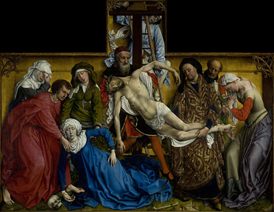 The Descent from the Cross c. 1435 by Rogier van der Weyden.