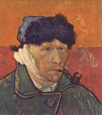 Self-portrait (1889) by Vincent van Gogh.