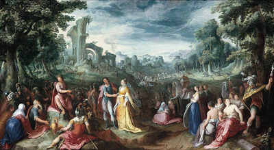 The Continence of Scipio (1600) by Karel van Mander.