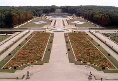 Gardens of the Château de Vaux-le-Vicomte designed by André Le Nôtre (1613-1700).
