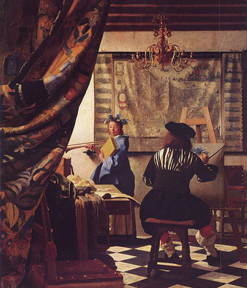 The Art of Painting (c. 1666) by Johannes Vermeer.