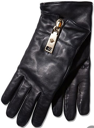 Versace Cashmere Lined Leather Gloves: £340.