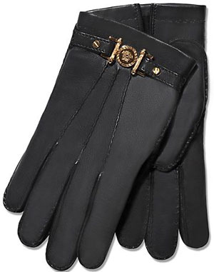 Versace Signature Gloves With Fur Lining: £540.