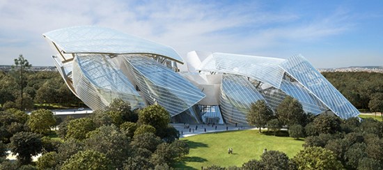 Fondation Louis Vuitton Modern Art Museum, 8 Avenue du Mahatma Gandhi, 75116 Paris.