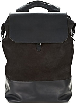 Alexander Wang explorer backpack in midnight suede with rhodium: US$1,050.