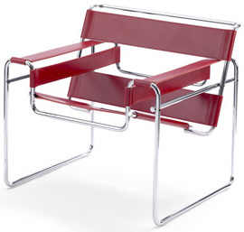 Wassily chair designed by Marcel Breuer in 1925-1926.