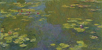 Le Bassin aux Nymphéas (Water Lily Pond, 1919) by Claude Monet.