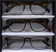 Warby Parker optical eyewear selection.