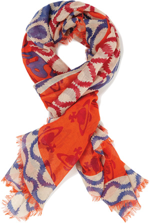 Vivienne Westwood Squiggle Square Men's Scarf: €230.
