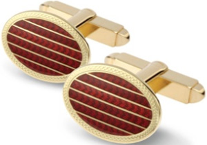 W.H. Taylor Red Enamel Links Swivel Cufflinks: £1,990.
