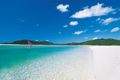 Whitehaven Beach, Whitsunday Island, Queensland, Australia.