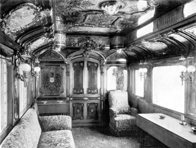 Saloon No. 1 of emperor Wilhelm II, 1890s.