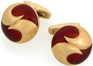 William and Son Red Enamel Cufflinks: £3,200.