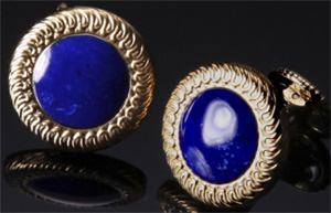 William Henry Lapis Lazuli cufflinks: US$375.