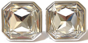 William Hunt crystal square cufflinks: £85.