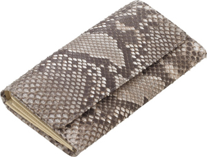 Williamson & Son Ladies large python purse with zip coin section, note and credit card compartments: £630.