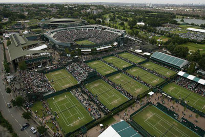 Wimbledon tennis courts.