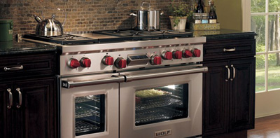 Wolf Cooking 48-inch Dual Fuel Range.